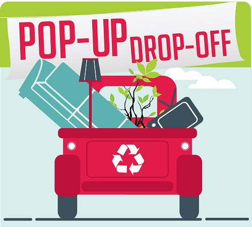 Pop-Up Drop-Off event logo