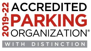 Accredited Parking Organization, With Distintion. Click for more info