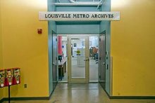 Louisville Metro Archives enterance