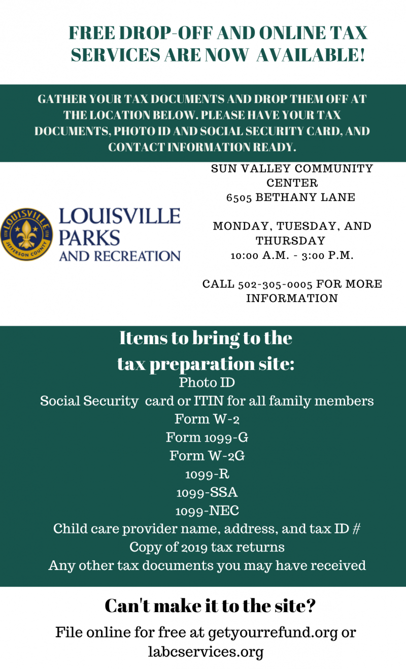 Sun Valley Tax Services Flyer