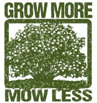 Grow More Mow Less logo