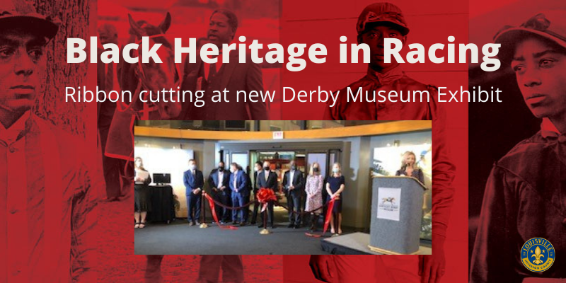 Black Heritage in Racing: Ribbon cutting at the new Derby Museum Exhibit