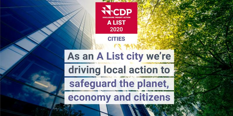 As an A List city, we're driving local action ot safeguard the plant, economy and citizens.